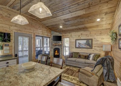 Bass Cabin Living Area