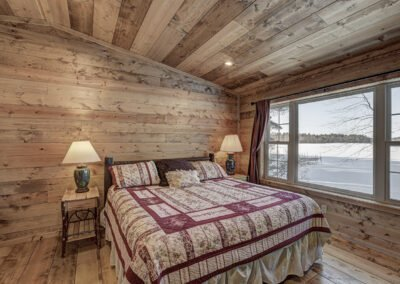 Walleye Cabin Master Bedroom